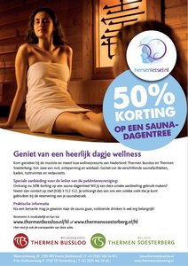 50% korting entree Thermen Bussloo/Soesterberg